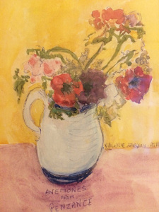 Rosalie Guest House Anemone painting
